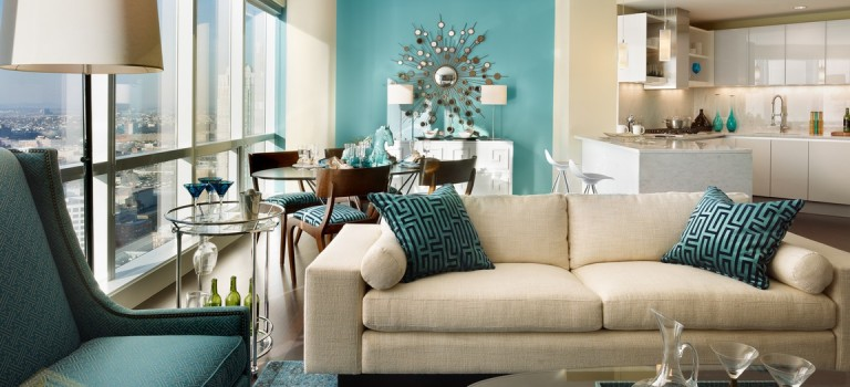 رنگ آبی در طراحی داخلی