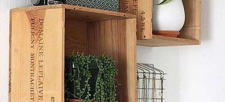 چگونه با جعبه های چوبی دکوراسیون خانه خود را بسازیم