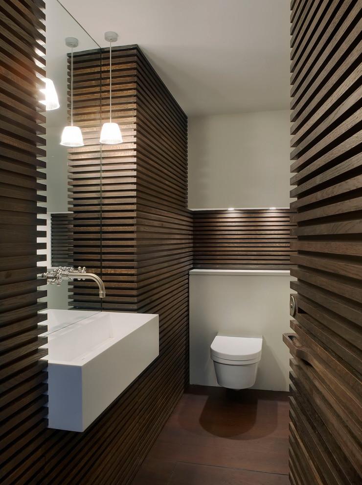 دكوراسيون حمام با چوب